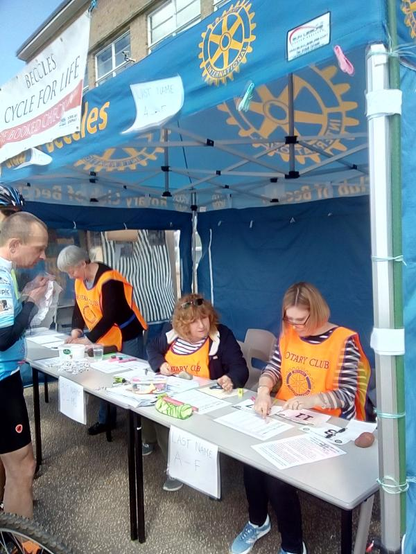 Beccles Cycle for Life - Check in helpers