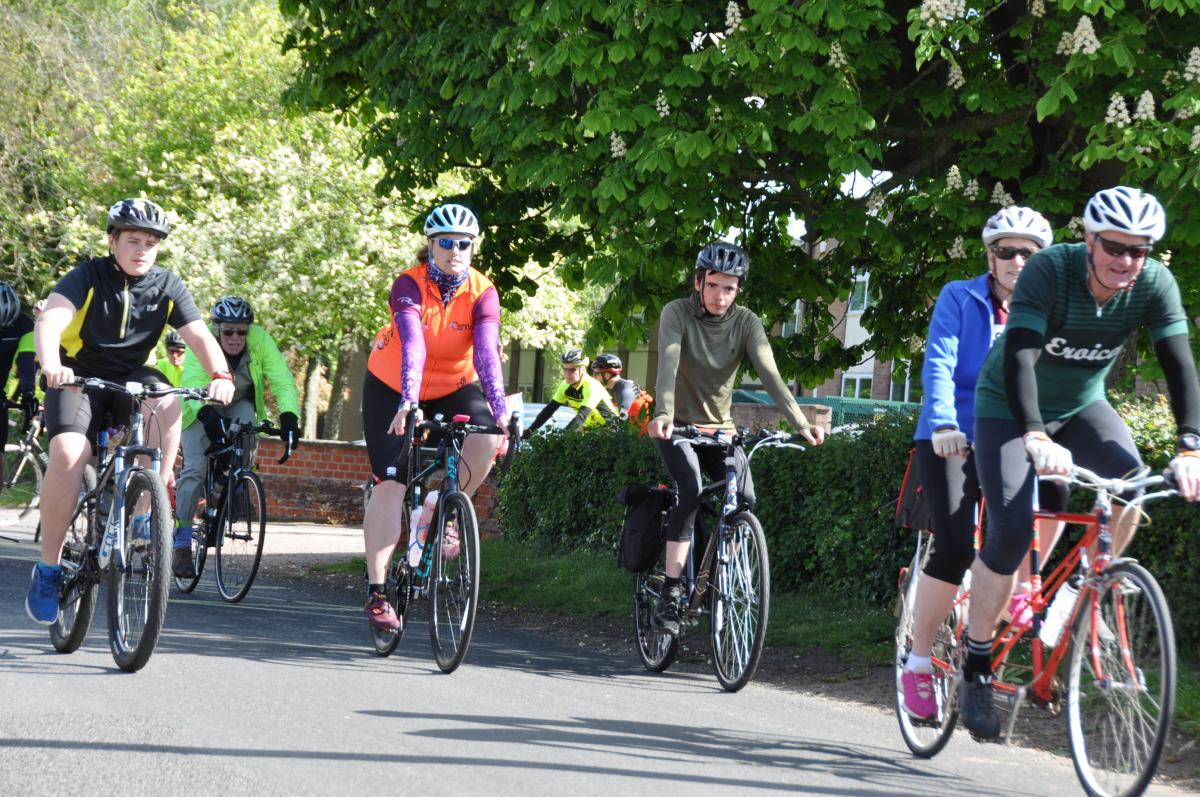 Beccles Cycle for Life - Riders begin their ride