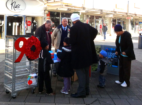 Normanton Rotarians assisting Royal British Legion -