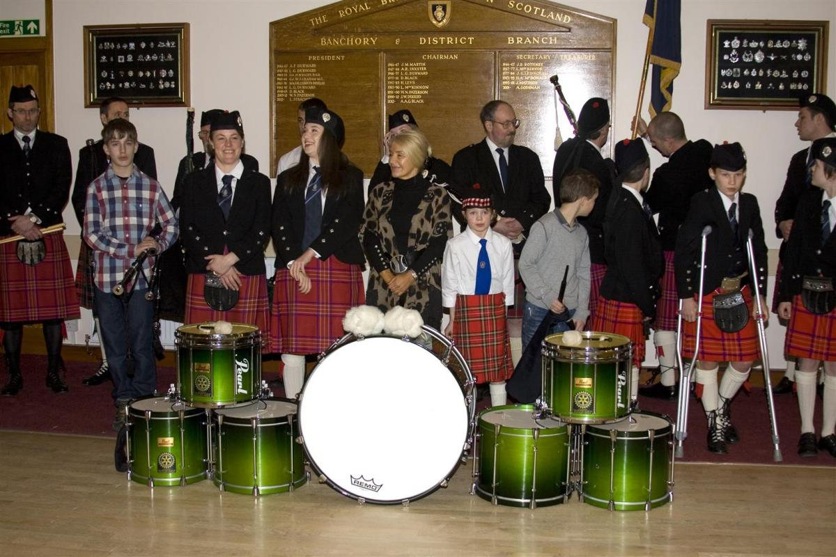 2013 Presentation to Banchory Pipe Band - BL 2 (Large)