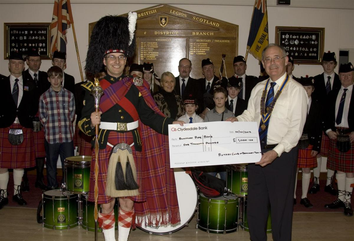 2013 Presentation to Banchory Pipe Band - BL 4 (Large)