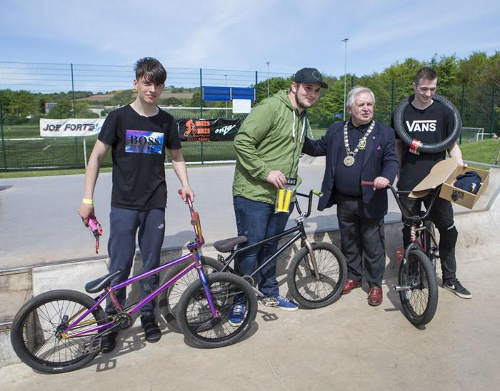 Freestyle Fun Event - Winners of the BMX Competition with Provost John McMillan