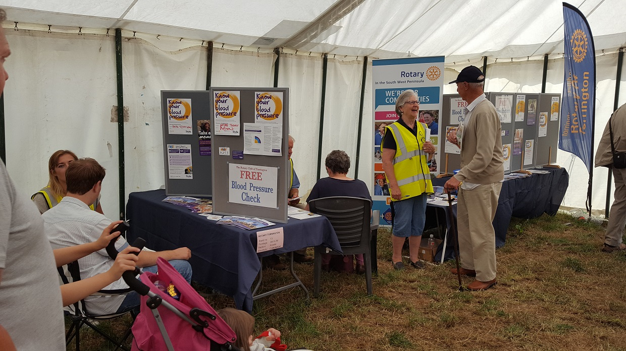 Blood Pressure check at North Devon Show - BP1(1)