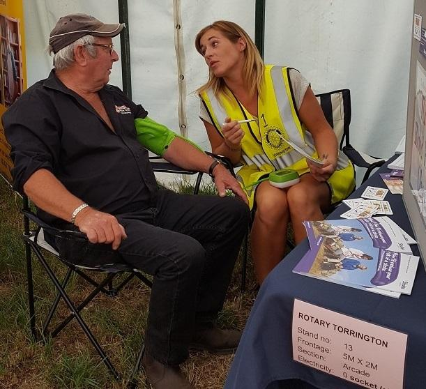 Blood Pressure check at North Devon Show -