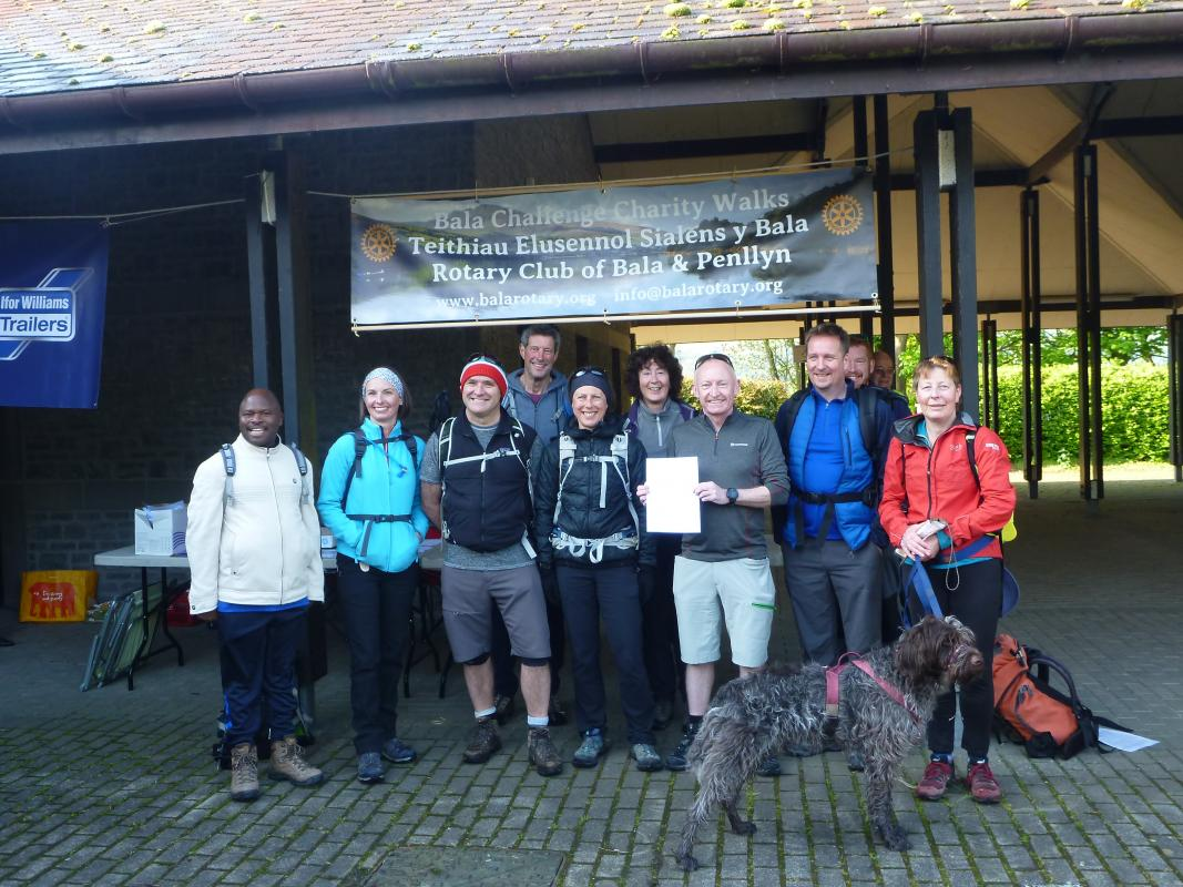Bala Challenge Walks 2020 - Happy group of walkers