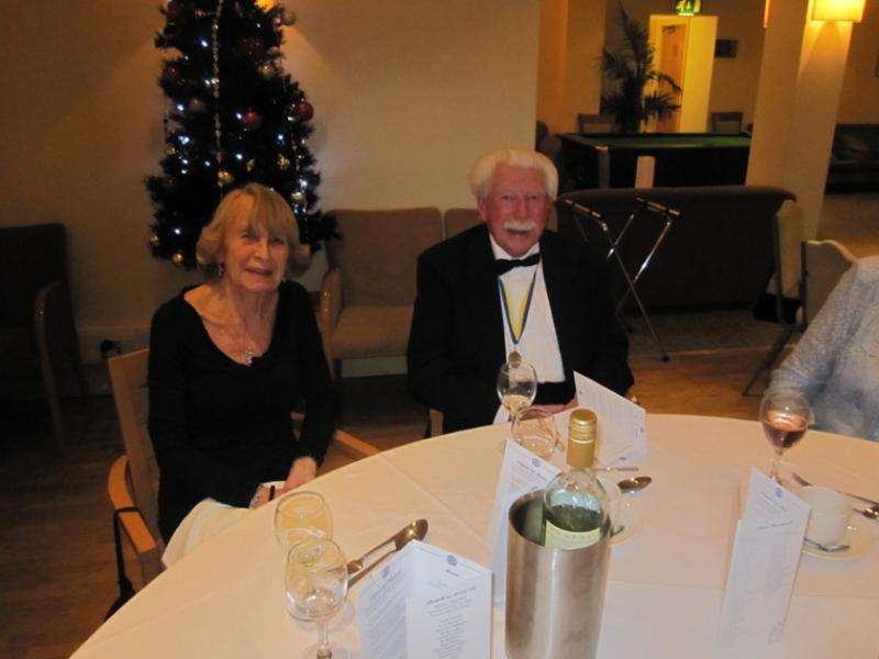 BLACKPOOL SOUTH ROTARY CLUB 2013  CHARTER DINNER.  - Barbara Lewin and Tony Cole.