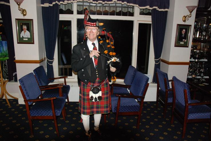 BURNS NIGHT - Barry McQueen, our Piper for the evening.