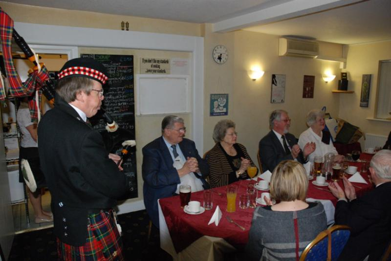 BURNS NIGHT - Barry plays the bagpipes really well.