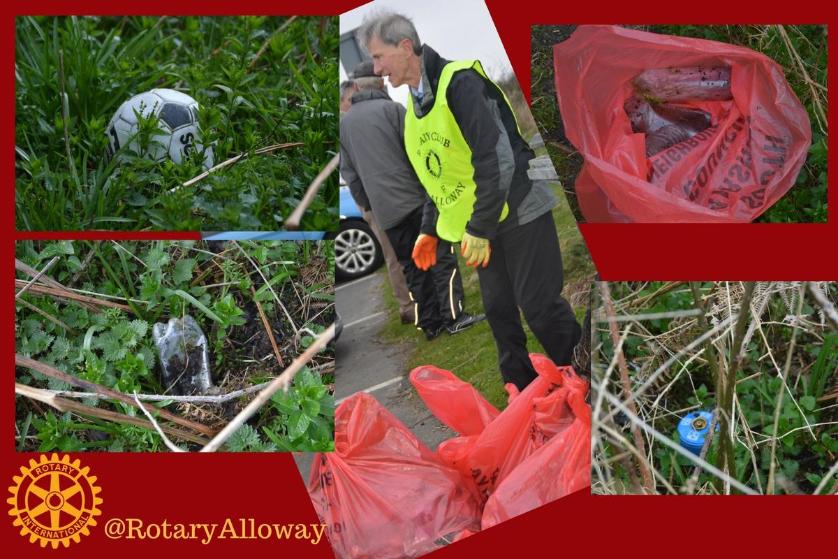 Beach Clean 2017 - Red Bags were left to be uplifted by South Ayrshire Council