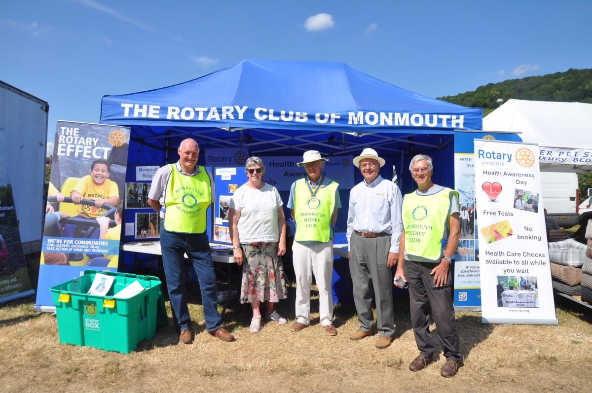 Rotary Monmouth in the Community - The Annual Monmouth Show where Rotary has a Gazebo and mans the pedestrian crossing from the car park area