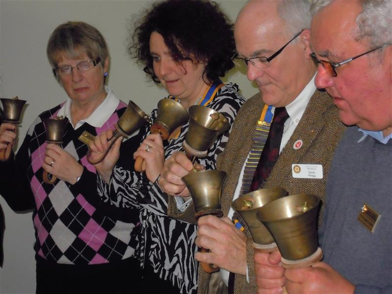 Visits and Visitors - Wickford Club join us for Bellringing in Dec 2011