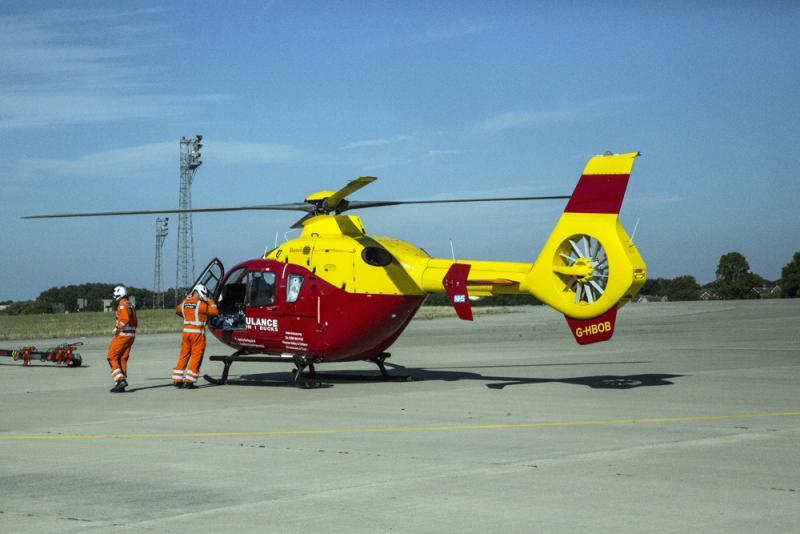 Visiting Thames Valley & Chiltern Air Ambulance Service - The helicopter which saves lives