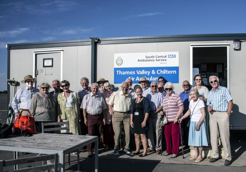 Visiting Thames Valley & Chiltern Air Ambulance Service - Rotarians, partners, friends