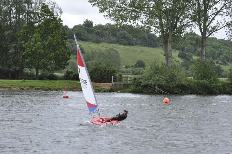 Life on the Upper Thames Waves! - Handled with skill, a Topper skims across the water