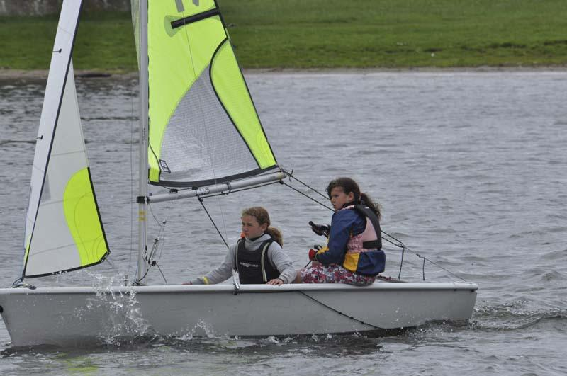 Life on the Upper Thames Waves! - Two young sailors handling their craft well in choppy waters