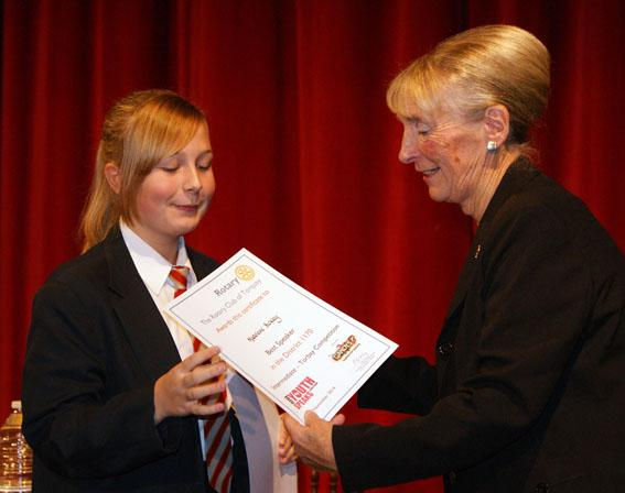Youth Speaks Pictures 2014-15 - Best intermediate speaker award went to Madeleine Bickley of St Cuthbert Mayne.