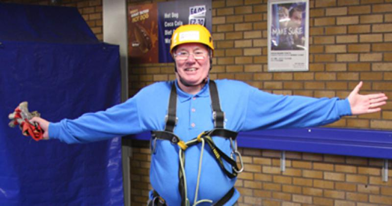 President Elect, Bill Thomas Braves the terrors of Goodison Park. - Bill Thomas Zip Wire for home page
