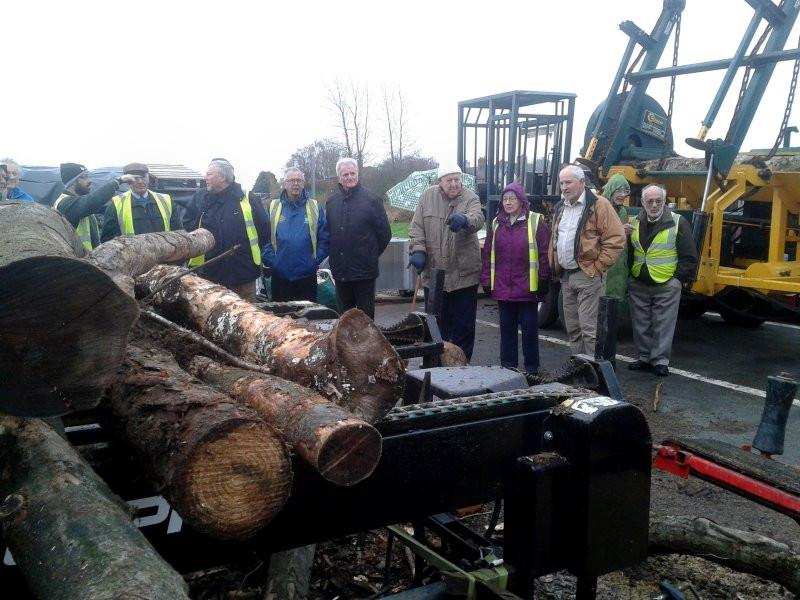 Visit to Lakes Biomass - Derrick tells us it will be the size of matchsticks in the end.