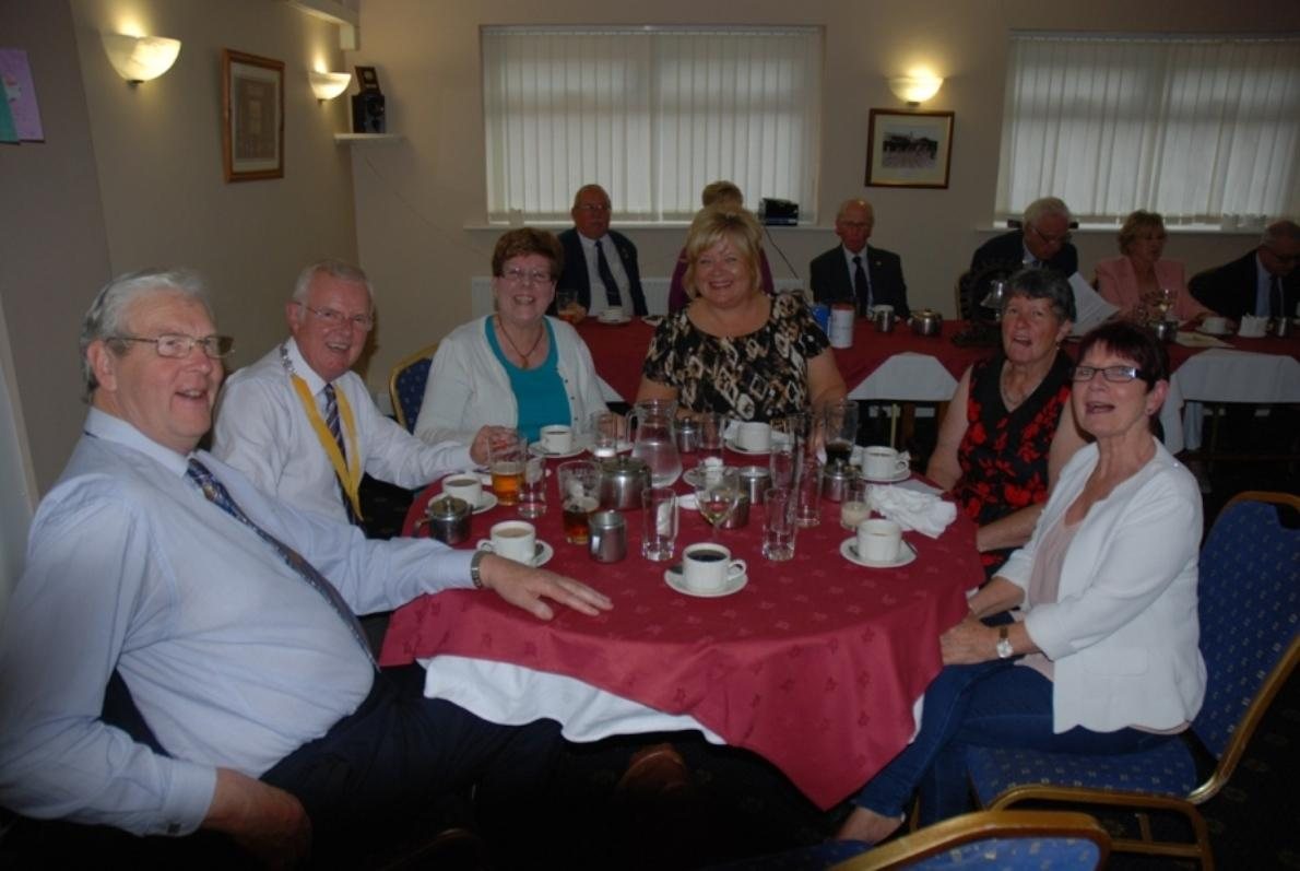 INDUCTION OF PRESIDENT ERIC HIND - 3RD JULY 2017 - Blackpool South members enjoy the occasion.