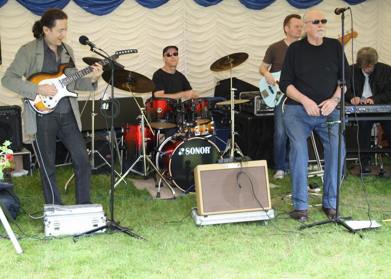 Blues at Burstead - June 2012 - Grapevine Blues Band entertaining the crowd