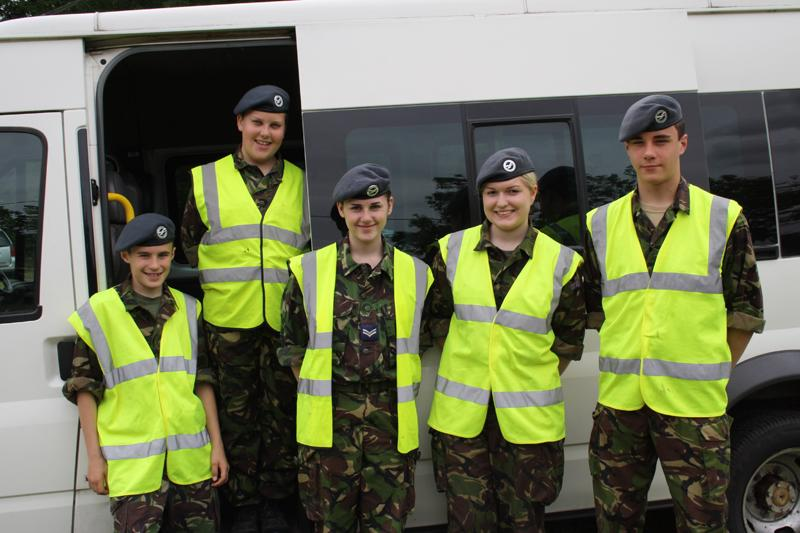 Blues at Burstead - June 2012 - The cadets ready to help with setting up and stewarding