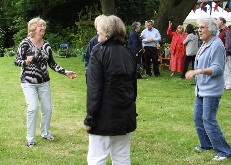 Blues at Burstead - June 2012 - Some of the Guests dancing on the lawn