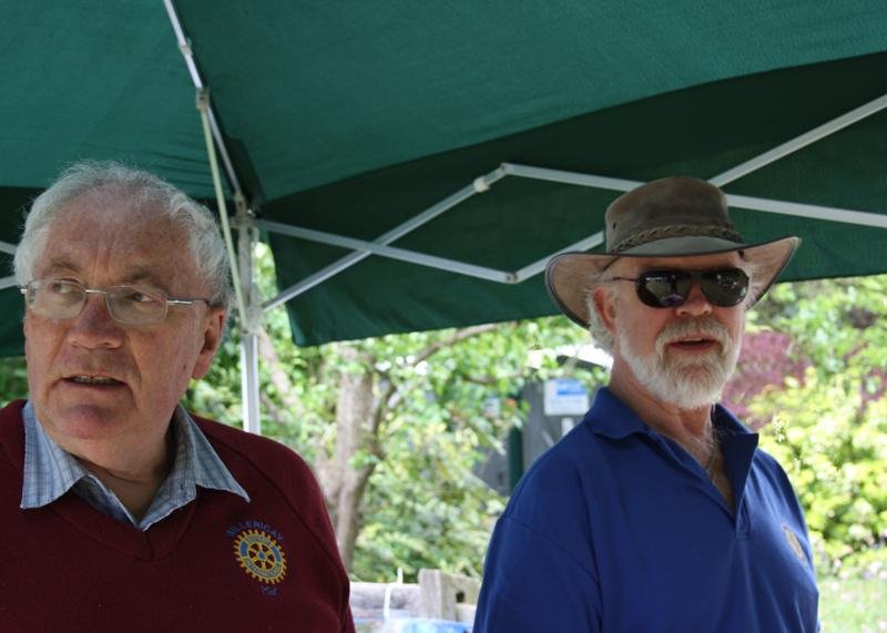 Blues at Burstead - June 2012 - The Club Secretary and the Treasurer scan the crowds
