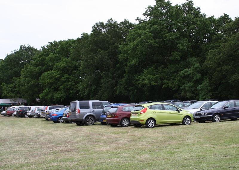 Blues at Burstead - June 2012 - Ample free parking in the adjacent meadow.
