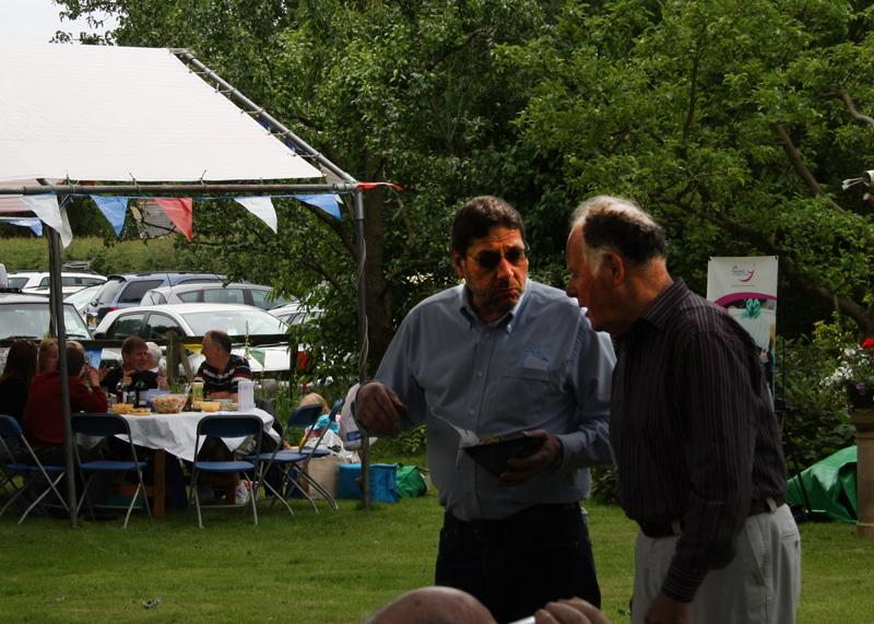 Blues at Burstead - June 2012 - Malcolm and Peter discussing the success of the day