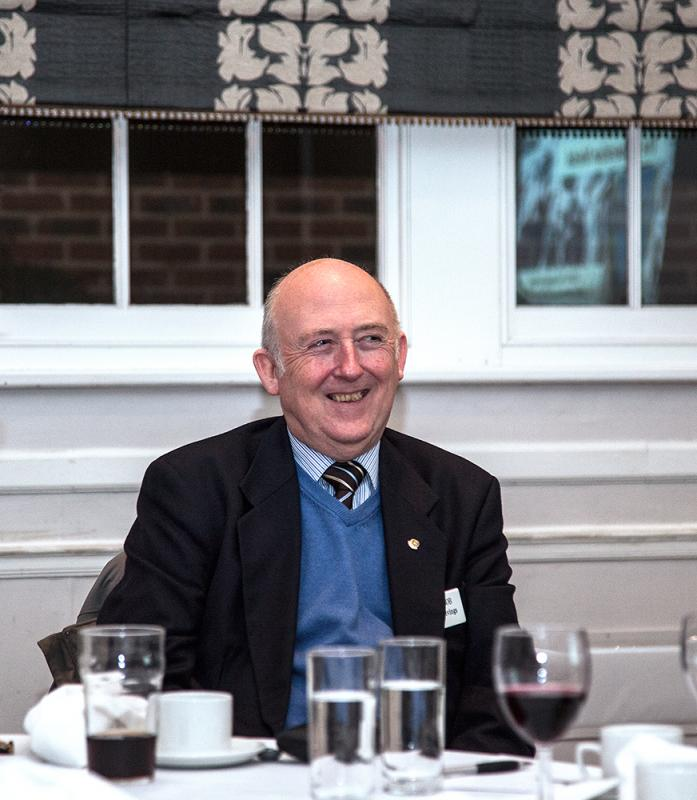 Supper Meeting with a Thame hero - Bob Livings -  Club President 2012-2013