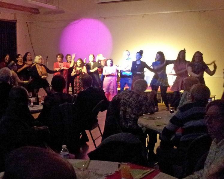 Bollywood & Casino Night on 1st of March - Some of the Audience try Bollywood dancing