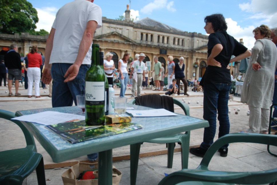 Wells Boules Tournament 2008 -  Boules with wine