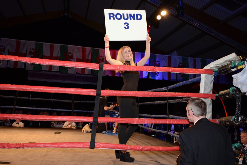 Annual Rotary Boxing Event - Friday 18th October - England vs Germany - Boxing ring girl