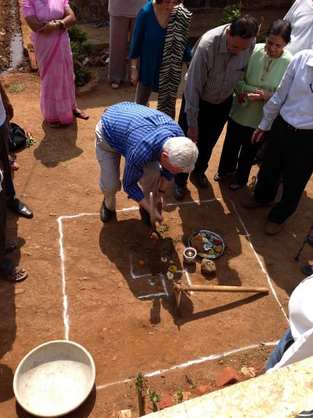 Update on our visit in 2014 to Mumbai - Breaking ground for a new school room