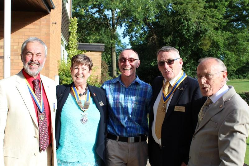 Ross Rotary Club Handover Dinner - The old and the new