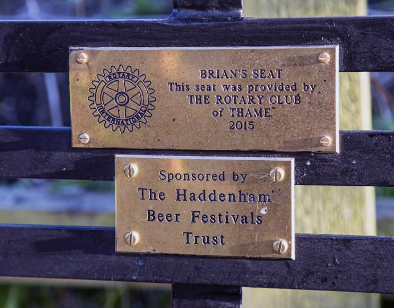 "Thame Rotary""™s latest community project: Brian""™s  Seat on Phoenix Trail - The sponsors - photo: Ross Dike"