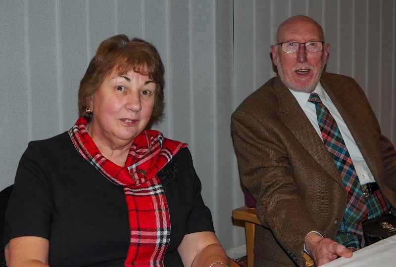 A Burns Supper with a difference - Irene Krogh and Erik Krogh at the top table