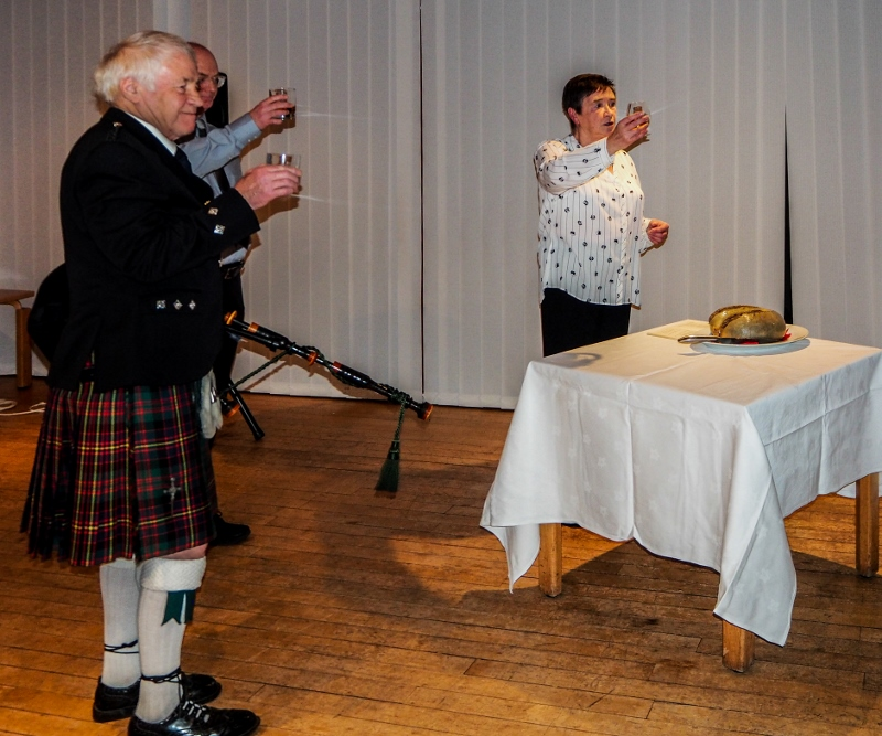 A Burns Supper with a difference - Toasting the haggis