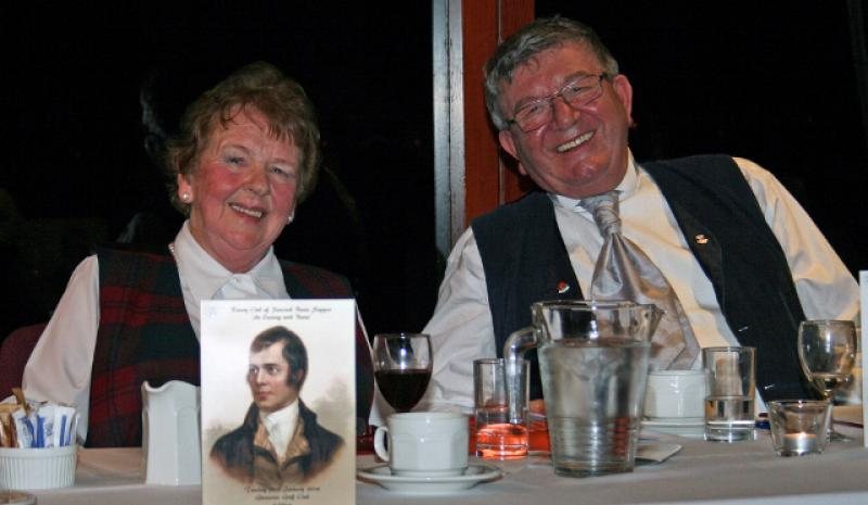 Burns Supper 2014 - Colin and Jane Hunter