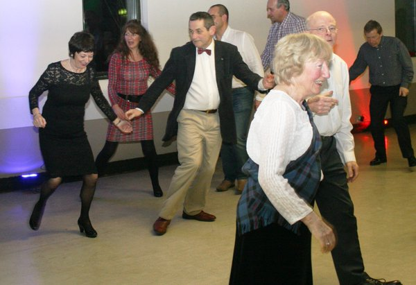 Burns Night Supper and Dance Great Success - Burns Night Dancing