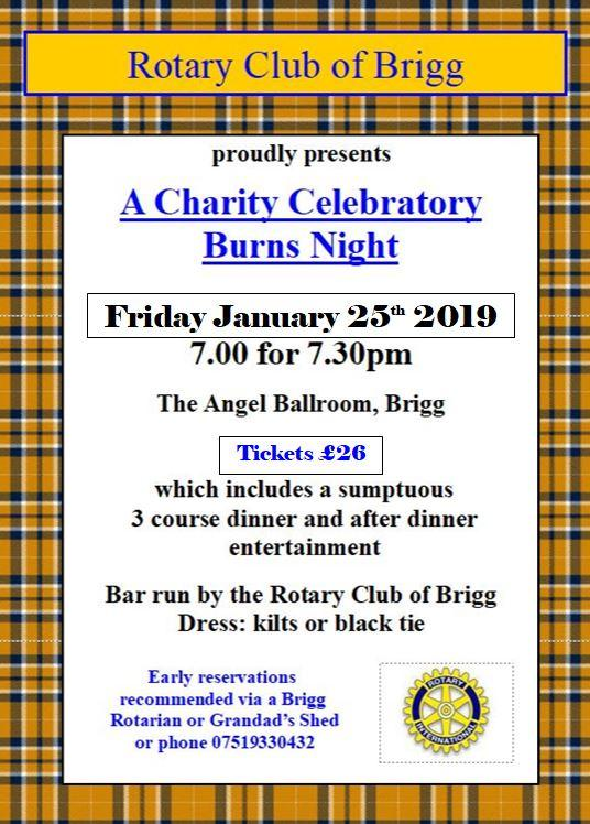 Burns' Night ~ Just a few tickets left ~ book asap now by calling 07519330432 -