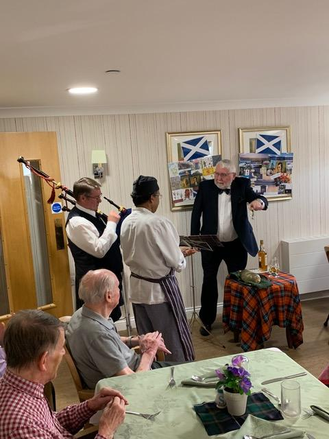 Scottish Lunch at Tor-Na-Dee Care Home, 2020 -