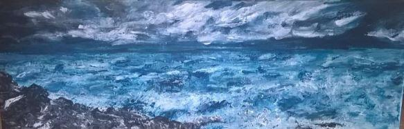VIRTUAL OPEN ART EXHIBITION - Original acrylic - U/f - 23x8