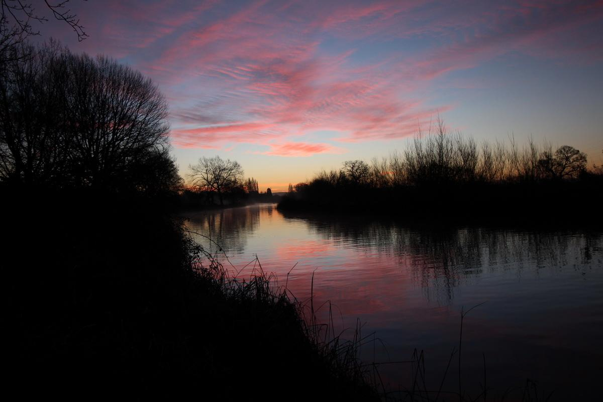 2016-17 Young Photographer Competition Results - St Peter's CofE Aided School, Exeter, RC of Crediton Boniface - This photo shows a reflection of the sky and surroundings at dawn on the Exeter Canal. It was exposed to show the colour in the sky