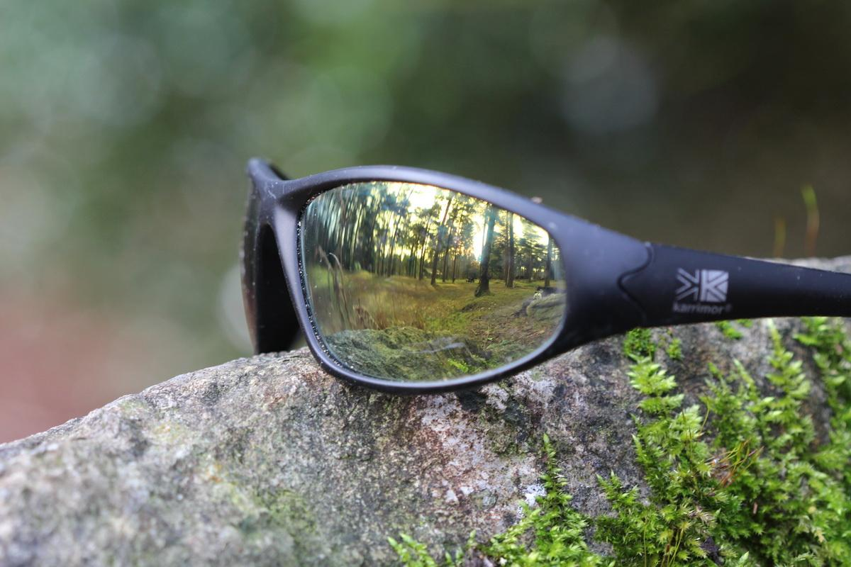2016-17 Young Photographer Competition Results - St Peter's CofE Aided School, Exeter, RC of Crediton Boniface - This shows a reflection of Haldon Forest through a pair of sunglasses left resting on a rock
