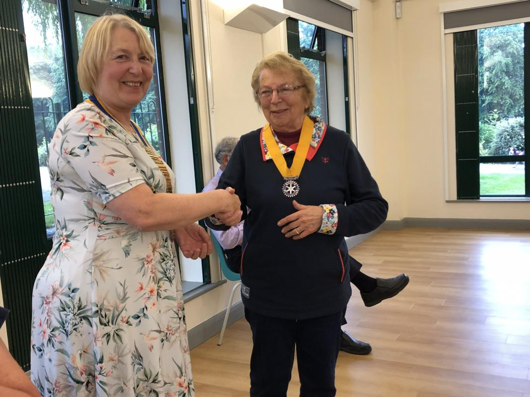 New President for our Club - Rotarian Ann Ward