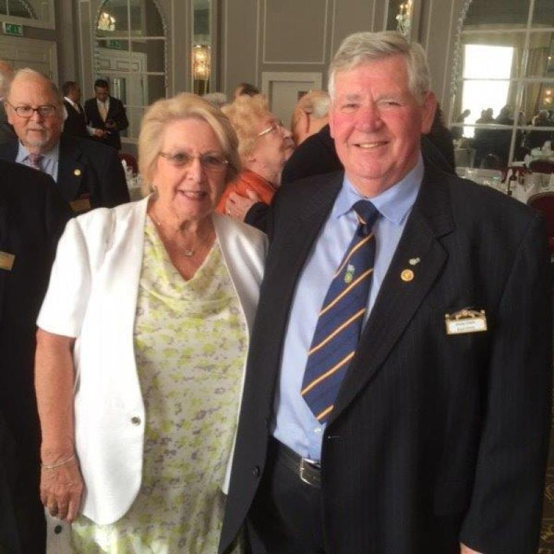 Chris clark's 50th Anniversary in Rotary - Chris and Pam