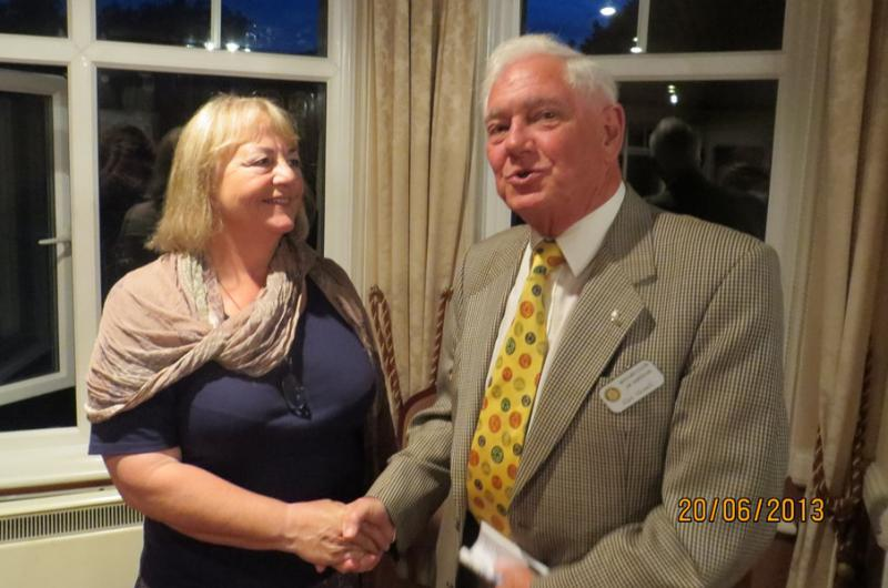 International Service - Rotarian Alan welcomes CHANCE for Nepal founder Barbara Datson to present her work