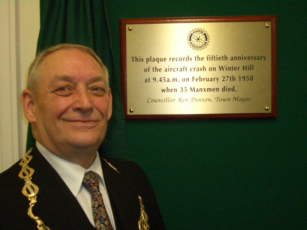Winter Hill - Winter Hill Memorial plaque unveiled by Horwich Mayor 27/2/2008