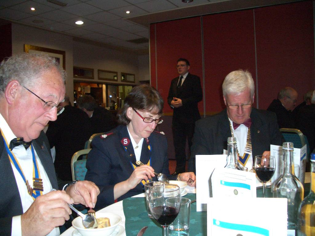 Charter Night 2008 - Total concentration from the top table guests